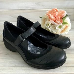7M Naturalizer Jonnie Mary Jane Black Shoes